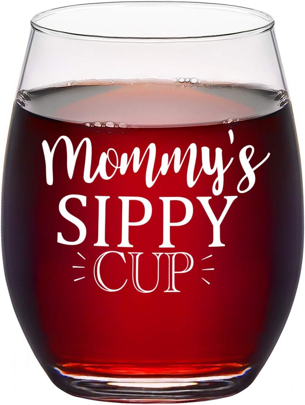 Copa de vino sin tallo para mamá, 15 onzas, el mejor regalo para el día de la madre, cumpleaños, Navidad, idea de regalo para mamá, mujer, nueva mamá, mamá embarazada