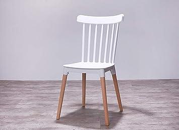 Sedie Da Cucina Bianche : Yizi sedia da pranzo sedia in legno massello con braccioli sedia