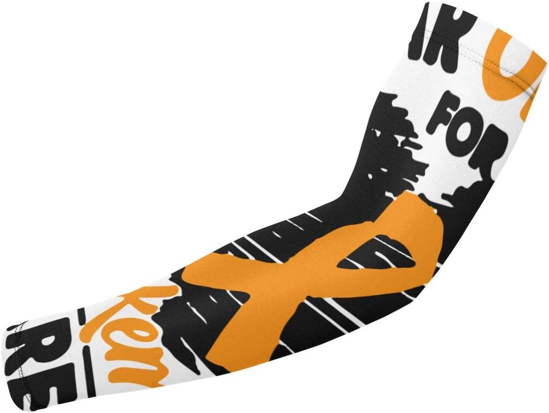 Mingxin~ I Wear Orange Leukemia Cancer Awareness Arm Sleeves 1 Pair 2 Sleeves Youth /& Adult Sizes Football Baseball Basketball Cycling Tennis