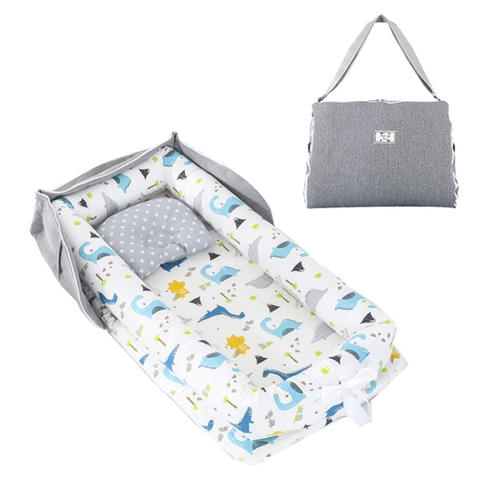 Newborn Baby Bassinet for Bed Portable Cosleeping Baby Bed for Bedroom Cuddling Lounging and Travel DaMohony Baby Lounger