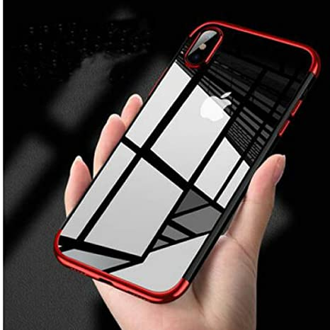 Borkano Coque iPhone X, Coque iPhone 10 Transparente Souple Ultra Fine TPU  Silicone - Adhérence fda0c8939b5
