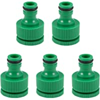 uxcell Faucet Tap Connector G1/2 G3/4 Threaded Hose Pipe Socket Adapter Fitting 4/7 8/12 OD Tubing for Garden Irrigation…