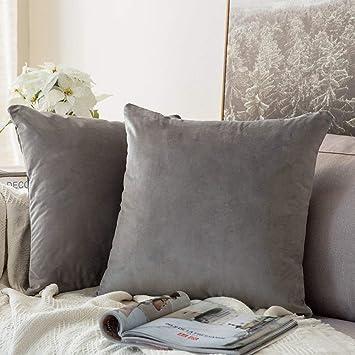 Amazon.com: MIULEE - Juego de fundas de almohada cuadradas ...