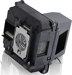 ESolid Projector Lamp Bulb for Epson ELPLP68 PowerLite 3020 Home Cinema 3010 3010E 3020E EH- TW5810C TW5900 TW5910 TW5910W TW6000 TW6000W TW6100 TW6100W TW6510C TW6515C V13H010L68 Replacement