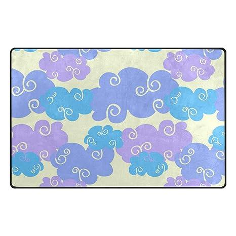 Amazon.com: Cool Color Nubes Fondo Vintage Alfombra Oficina ...