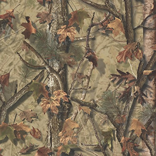 Chesapeake TLL01461 Sawgrass Camo Forest Wallpaper, Brown (Camouflage Wallpaper)