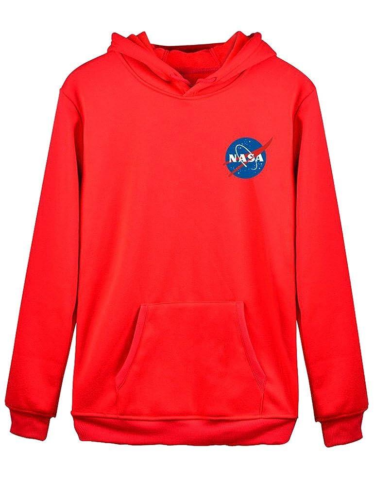 c331ce51b7 Amazon.com  SCX Men Women Unisex NASA Logo Print Hoodie Sweatshirt with  Kangaroo Pocket  Clothing