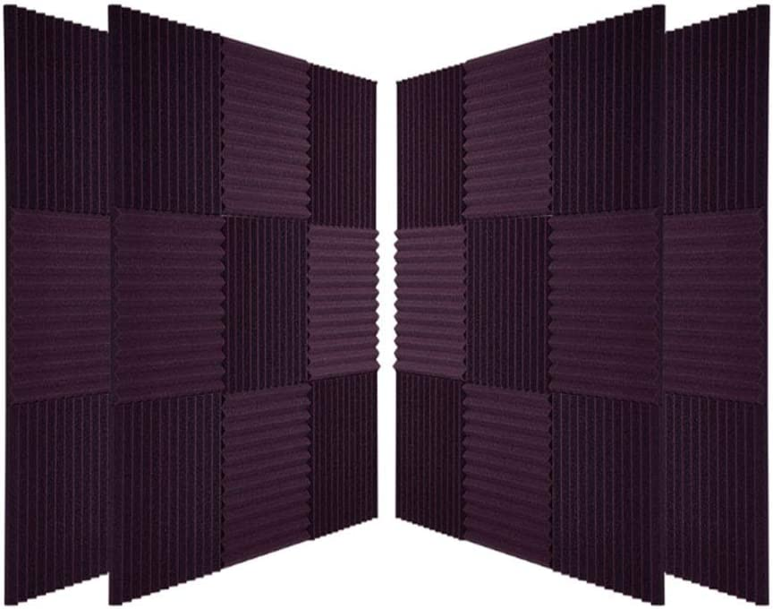 48 Pack Acoustic Foam Panels, 1 x 12 x 12