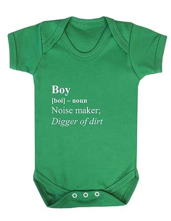 c273c4d03 Boy Dictionary Definition Cute Statement Noise Maker Baby Grow Vest ...