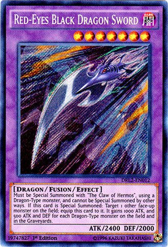 Yu-Gi-Oh! - Red-Eyes Black Dragon Sword (DRL2-EN012) - Dragons of Legend 2 - 1st Edition - Secret Rare