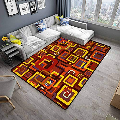 Abstract,Polyester Non-Slip Doormat Rugs 24