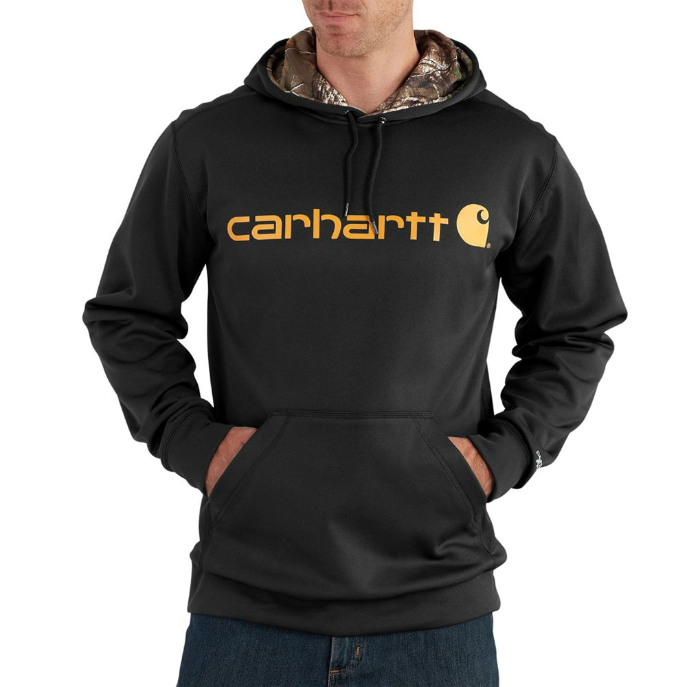 Carhartt Men's Tall Force Extreme Hooded Sweatshirt (Regular and Big & Tall Sizes), Black, X-Large