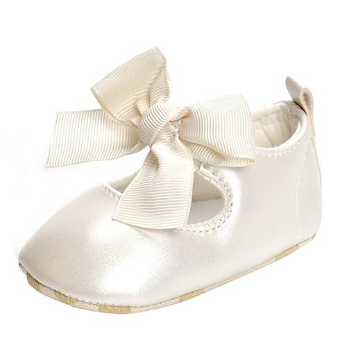 f82dc3890 Free Fisher Zapato de Primer Paso Diseño con Lazo Sandalias de Bebé-Niña  Zapatillas Para Boda Bautizo Ceremonia