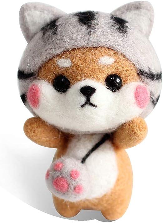 Manyo muñeca gato Kit de fieltro a la aguja artesanía fieltro DIY regalo: Amazon.es: Hogar
