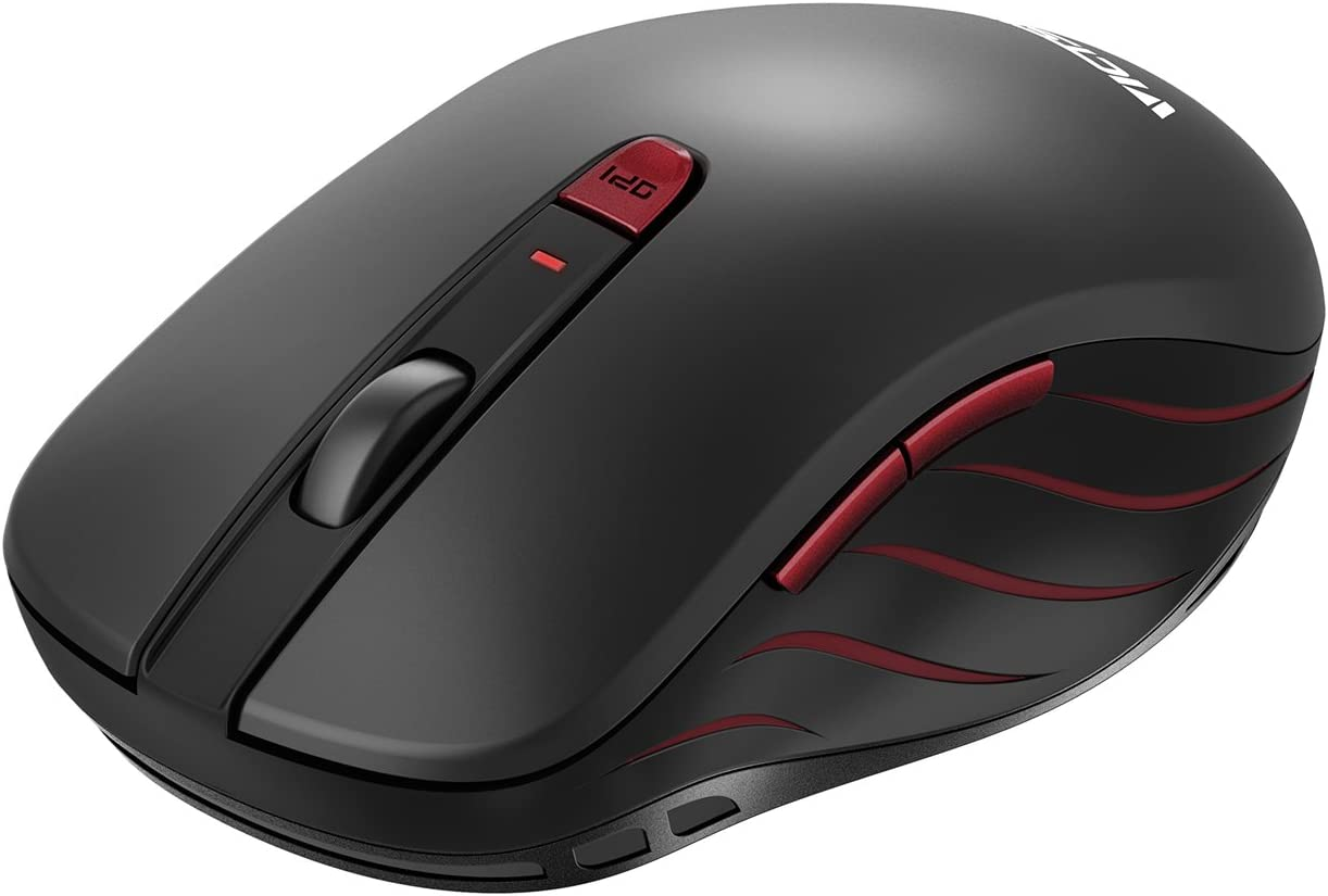 ASHATA Wireless Mouse Wireless Smart Optical Mouse with Intelligent Power-Saving Design,Simple Fashion Ergonomic Mouse with Precise Optics Technology for Laptop Desktop
