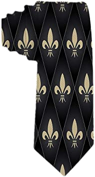 Corbata clásica de seda con corbata para hombres Patrón de flor de ...