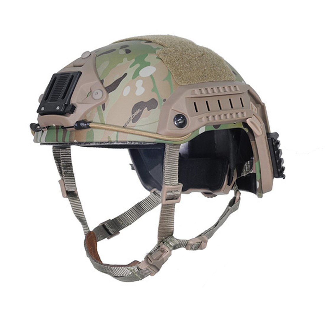 H World Shopping Tactical Adjustable ABS Maritime Helmet Multicam MC , Two Sizes (M / L, L / XL) For Military Airsoft Paintball Hunting Shooting (M/L) by H World Shopping