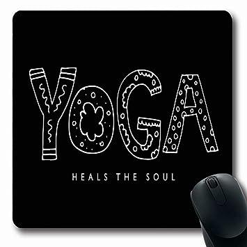 Luancrop Mousepad Oblong Asana Yoga Cura Soul Cita ...