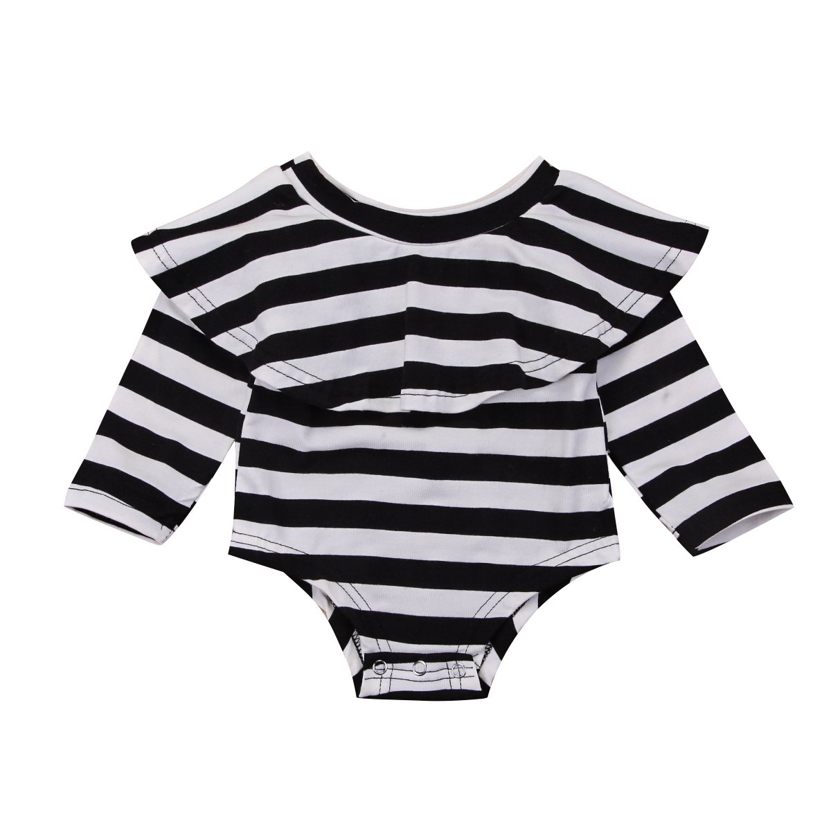 3cc790b8feea Amazon.com  Mornbaby Infant Baby Girl Romper Twins Long Sleeve Jumpsuit Off-Shoulder  Ruffled Newborn Bodysuit Outfit Clothes  Clothing