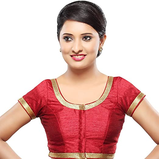 Amazon Com Bollywood Blouses Women S Readymade Front Open Dupion