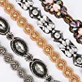 Teenitor 5pcs Beaded Headband for Women, Crystal Rhinestone Headband for Women Girls