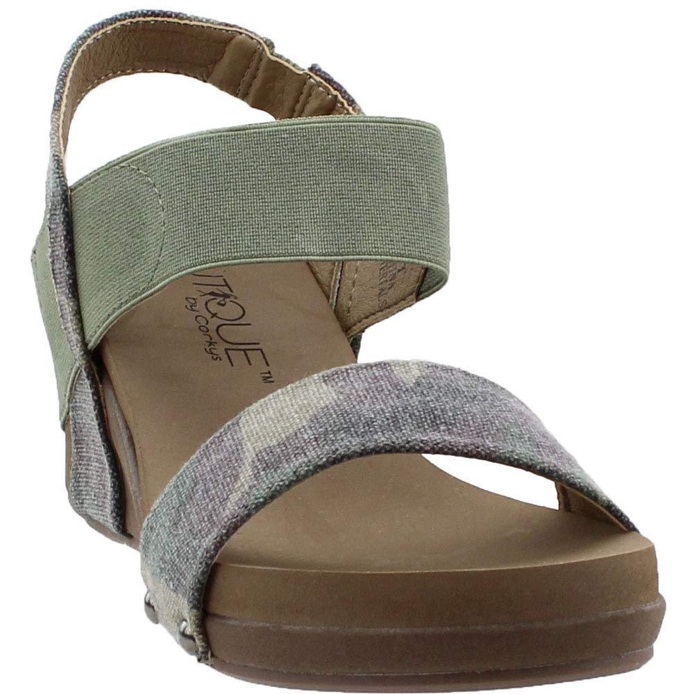 Corkys Bandit Women's Sandal (Camo, 7 B(M) US)