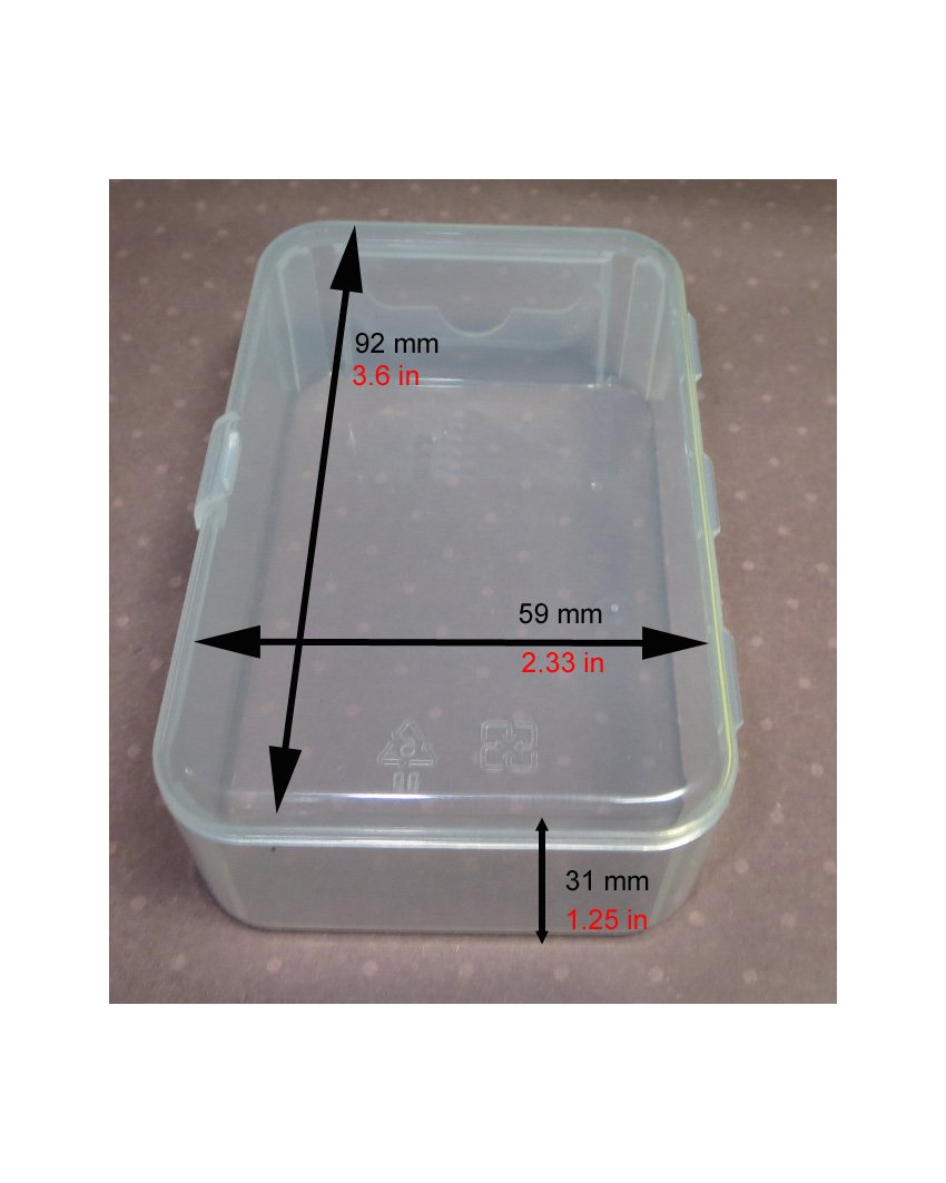 Maymom Small Plastic Box with Hinged Lid for Small Parts, Crafts, Beads, Jewelry and Watch Parts (12 boxes, Clear)