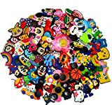 YAOYAO 100 Pcs PVC Shoe Charms Fit Crocs & Bands Bracelet,mix color