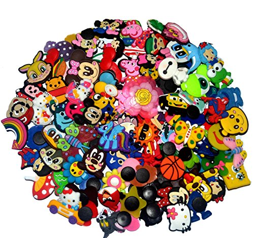 Pin Charm - YAOYAO 100 Pcs PVC Shoe Charms Fit Crocs & Bands Bracelet,mix color