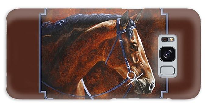 Amazon Com Galaxy S8 Slim Case Horse Painting Ziggy By Pixels
