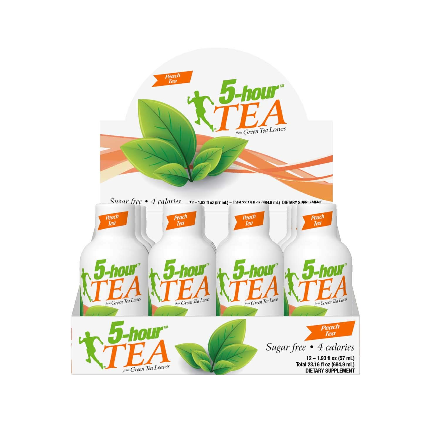 5-hour TEA, Peach Tea Flavored Energy Shots, 1.93 oz, 24 Count by 5-hour ENERGY (Image #4)