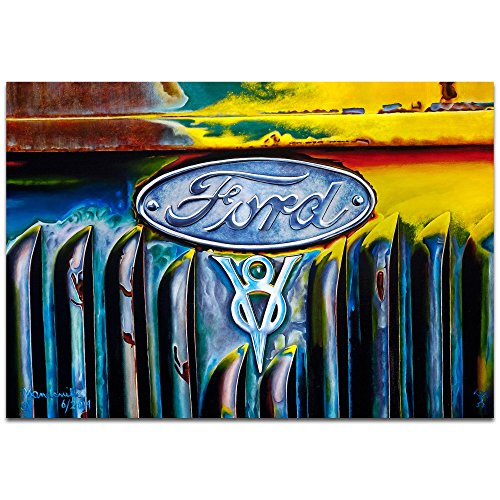 Americana Wall Art 'Forever Ford' by Todd Mandeville - Classic Cars