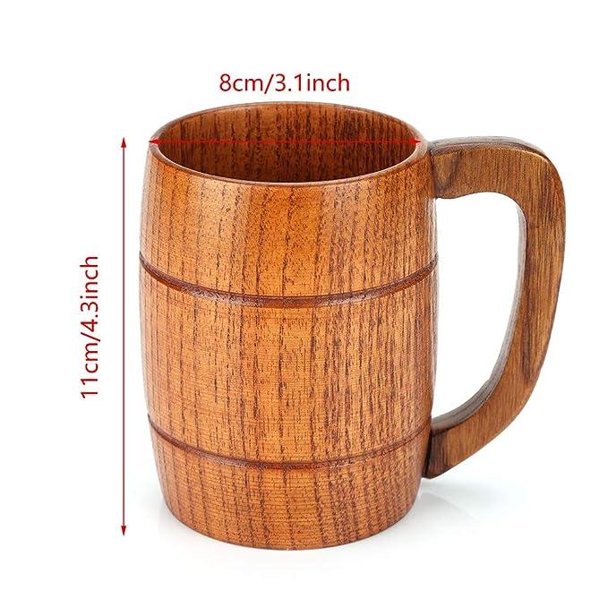 Amazon.com: Taza de cerveza hecha a mano con forma de barril ...