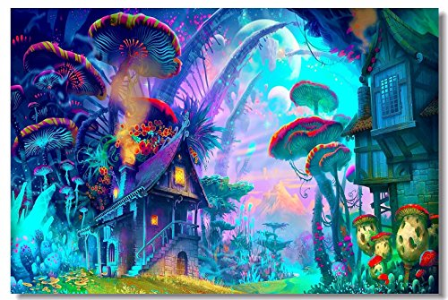 90x60cm poster psychedelic trippy colorful for Poster psichedelici