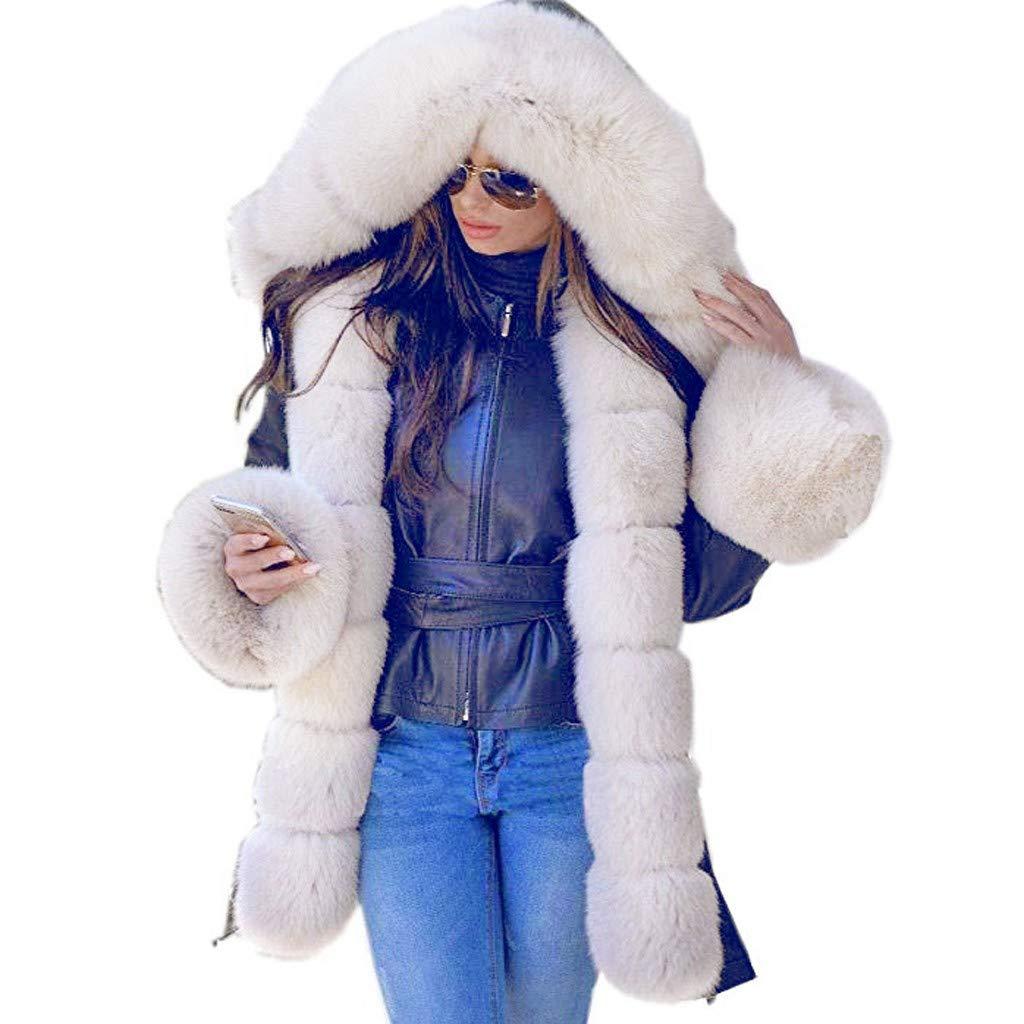 sheart 9 Womens Camouflage Thicken Warm Down Jackets Plus Size Winter Parka Faux Fur Long Hood Lightweight Jacket Outwear by sheart 9
