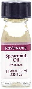 LorAnn Spearmint Oil Super Strength Natural Flavor, 1 dram bottle (.0125 fl oz - 3.7ml)