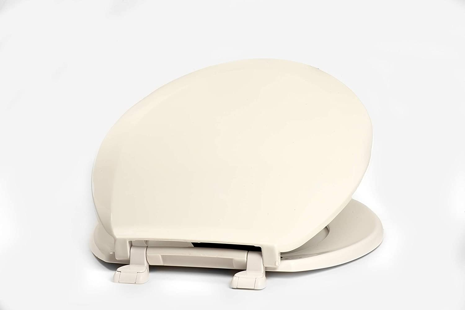 White Centoco 1200-001 Plastic Round Toilet Seat with Closed Front