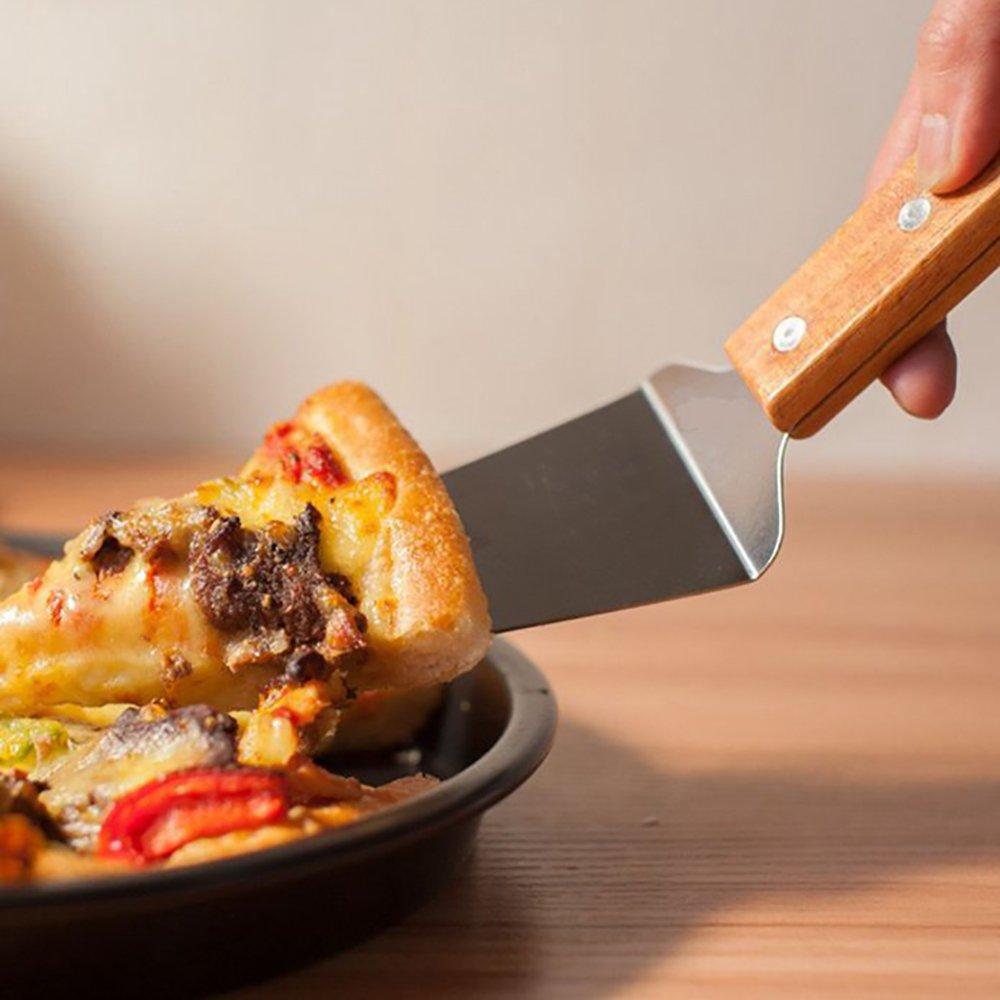 Pizzaschieber Pizzaschaufel Edelstahl + Pizzaheber mit Holzgriff zum ...