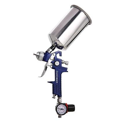 2x Lackierpistole mit Koffer HVLP Druckluft Spritzpistole Sprühpistole NEU