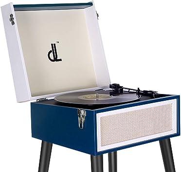 Tocadiscos, Vinyl Turntable de Vinilo DLITIME Record Player de 3 ...