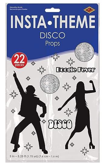 Amazon.com: Discoteca Props (1 count) (accesorio de fiesta ...