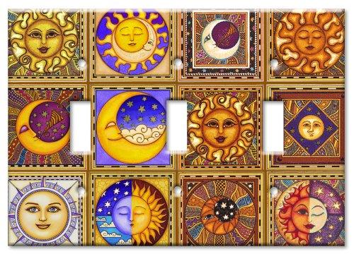 Art Plates / Triple Gang Toggle Switch -