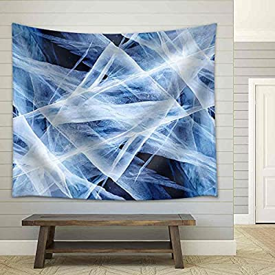 Created Just For You, Beautiful Artistry, Texture of Ice of Baikal Lake in Siberia Fabric Wall