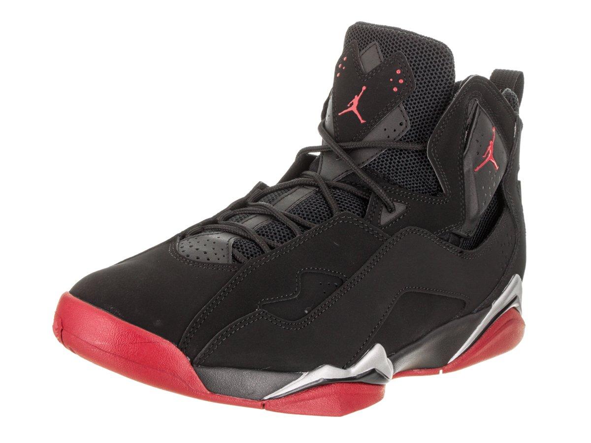 Jordan Mens True Flight Black Gym Red Metallic Silver Size 10 by Jordan