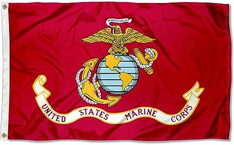 3x5 3/'x5/' Wholesale Combo Set USMC Marines Marine Corps Black /& Red 2 Flags Flag