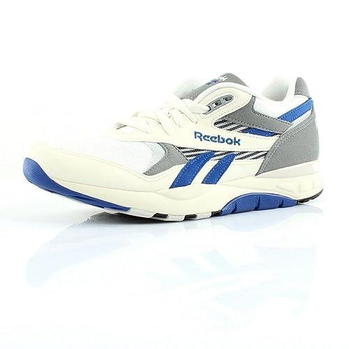 Reebok Hombres Superiores fan clásica zapatillas blancas M45843, Size:45.5: Amazon.es: Zapatos y complementos