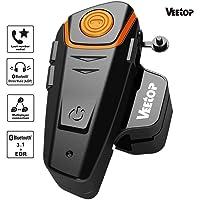 Veetop Intercomunicador Bluetooth Auricular para casco de moto