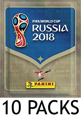 e19e5a563 Panini FIFA World Cup 2018 Sticker Collection Pack - 10 Pack Brand New Fun  Football Children Collectible (Dispatched From UK)