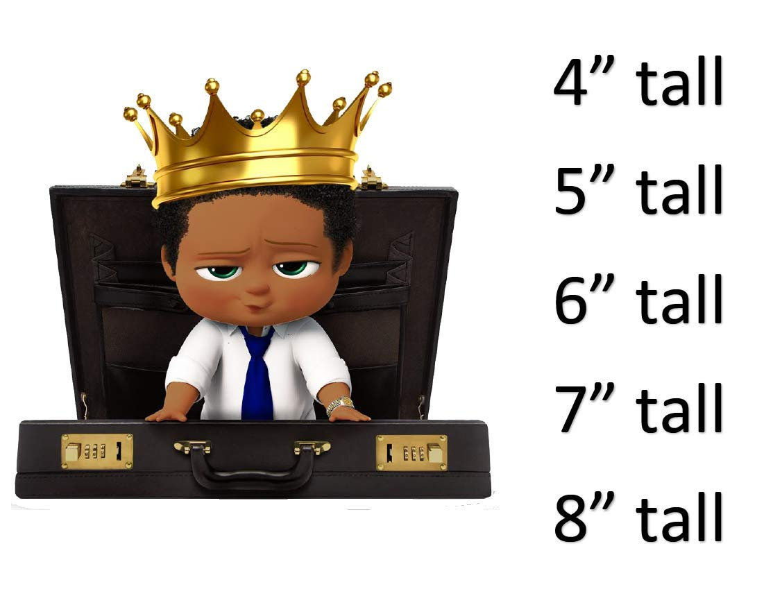 African American Boss Baby Boy Royal Prince Crown Briefcase