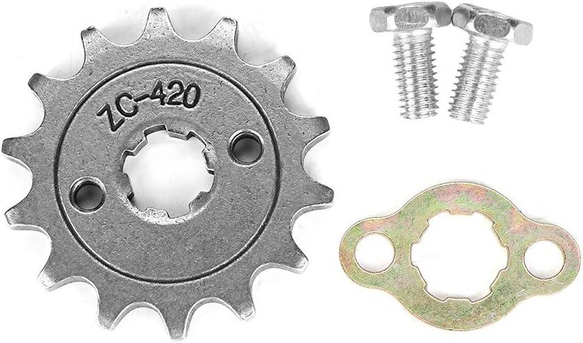 Ingranaggi con trasmissione a catena 14 denti con ingranaggi ATV Durable Durevoli per moto 50cc-160cc con 4 ruote ATV Quad Pit